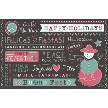 International Holiday Personalized Kids Placemat