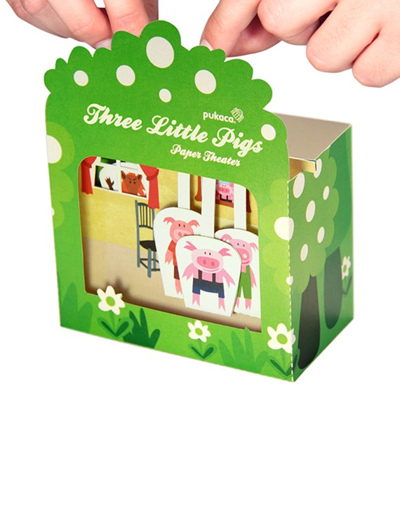 PUKACA Three Little Pigs Paper Theater - DIY Paper Craft Kit