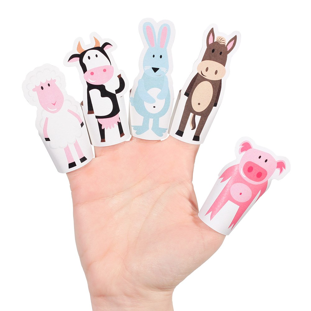PUKACA Farm Animals Paper Finger Puppets - DIY Paper Craft Kit