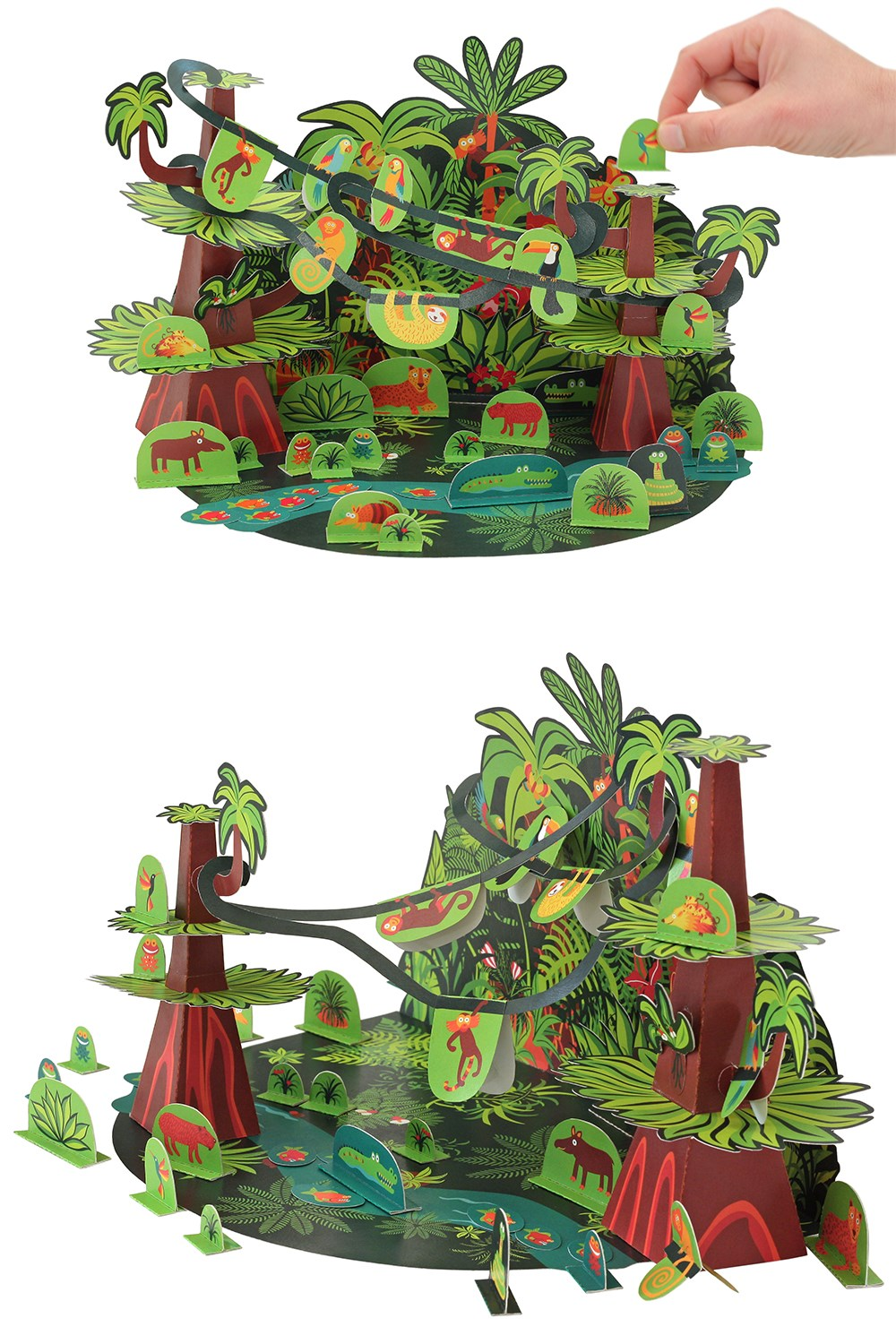 PUKACA Tropical Forest Paper Toy - DIY Paper Craft Kit