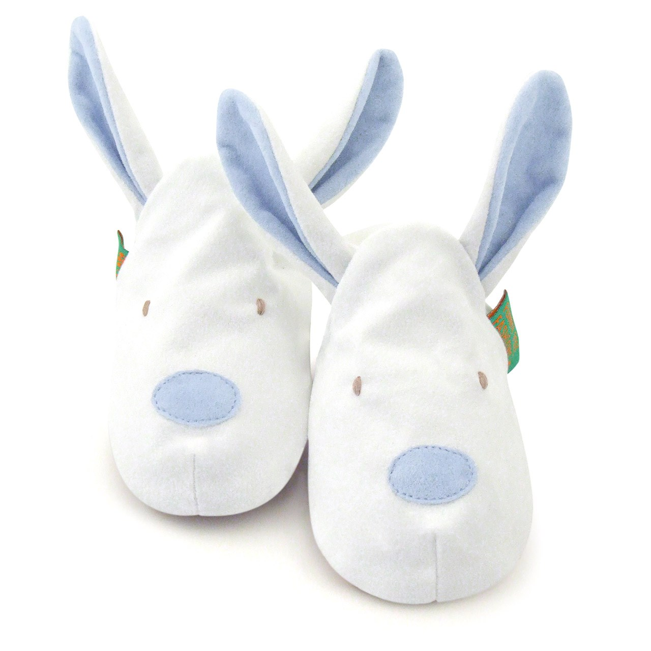 Soft Baby Shoes - Blue Bunny