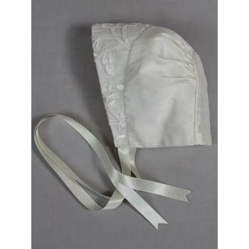 Estelle Silk Christening Bonnet