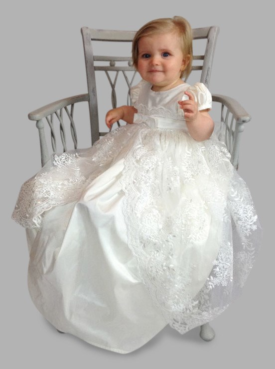 Michelle Silk Christening Gown by Okika
