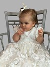 Estelle Silk Christening Gown
