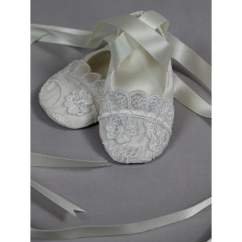 Etelle Silk Christening Booties
