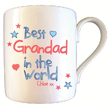 Personalised Best Grandad In World Mug