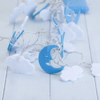 Children's Moon & Clouds Fairy String Lights