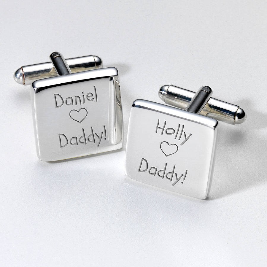 Personalised Heart Father's Day Cufflinks