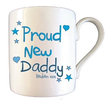 Personalised Proud New Daddy Father's Day Mug