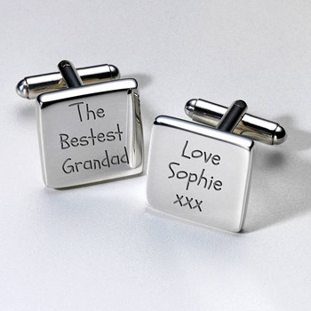 Personalised Bestest Grandad Cufflinks & Case