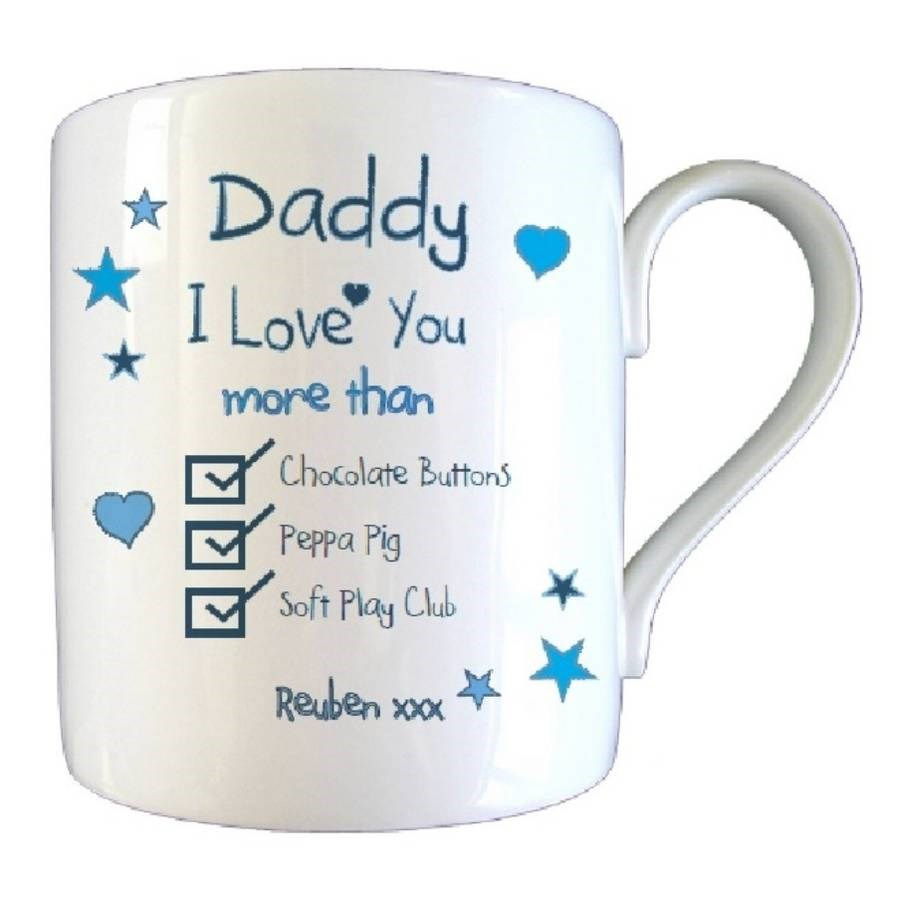 Personalised I Love You More Than… Father's Day Mug