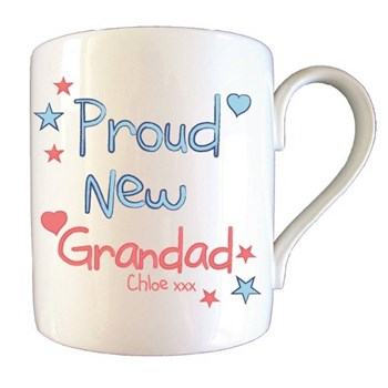 Personalised Proud New Grandad Mug