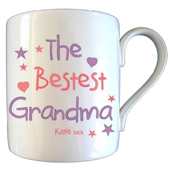 Personalised 'Bestest Grandma' Mothers Day Mug