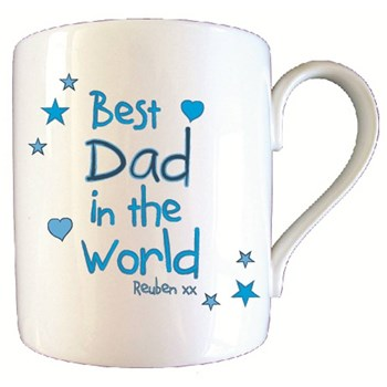 Personalised Best Dad In World Father's Day Mug