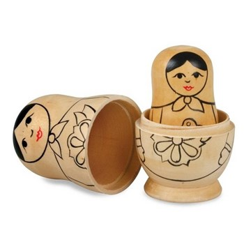 Paint Your Own Russian Dolls For Children