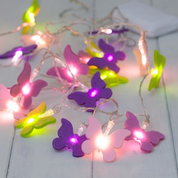 Children's Butterfly String Lights