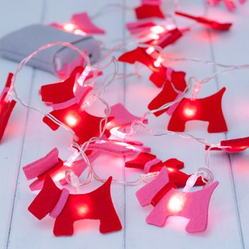 Child's Scottie Dog Fairy String Lights