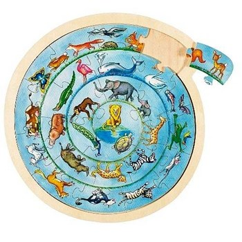 Wooden Circular Animal Jigsaw Puzzle