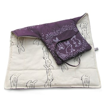 Travel changing mat with bunny print
