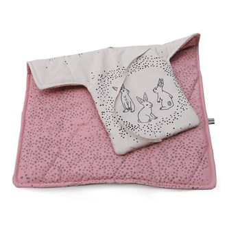 Changing pad with bunny and polkadot print