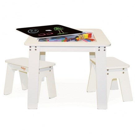 P'kolino Chalk Table for Children- White