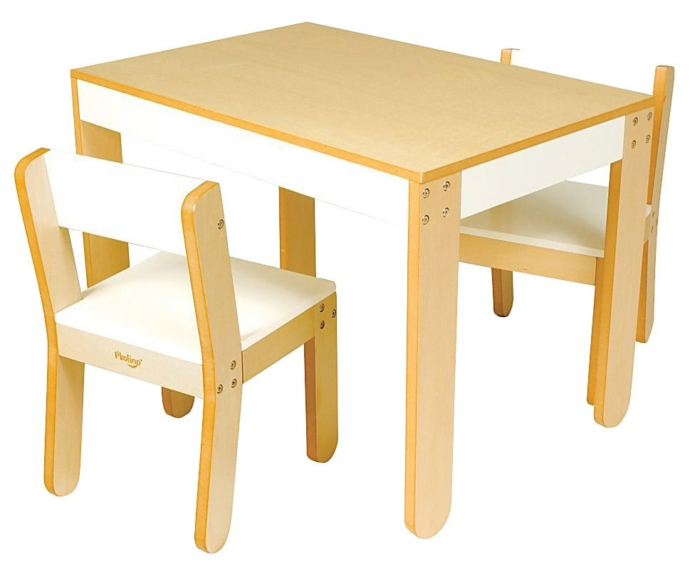 P'kolino Little One's Table and Chairs - White