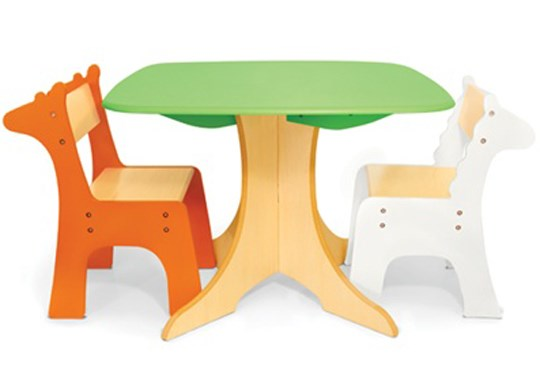 P'kolino Safari Collection - Tree Table with Giraffe & Zebra Children's Table and Chairs