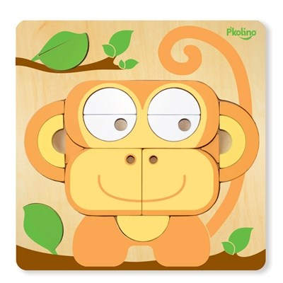 P'kolino Multi-Solution Children's Shape Puzzle - Monkey