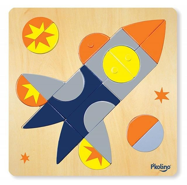 P'kolino Multi-Solution Children's Shape Puzzle - Spaceship