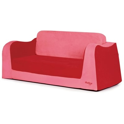 P'kolino Little Reader Toddler Sofa Sleeper - Red