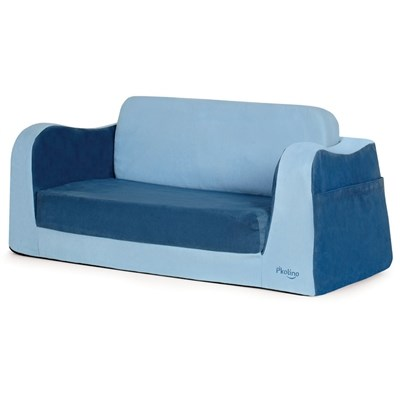 P'kolino Little Reader Toddler Sofa Sleeper - Blue