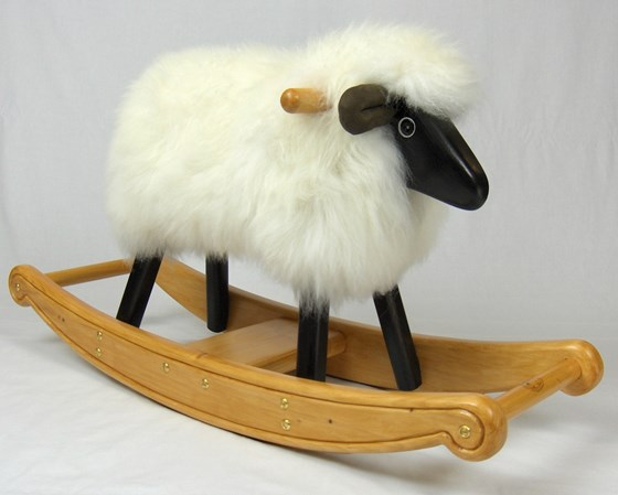 Ivory Fleece Rocking Lamb