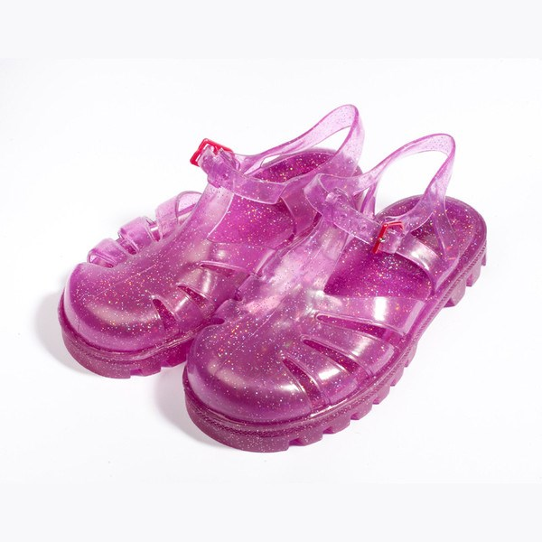 Pink Glitter Jelly shoes 'Raspberry Mivi'