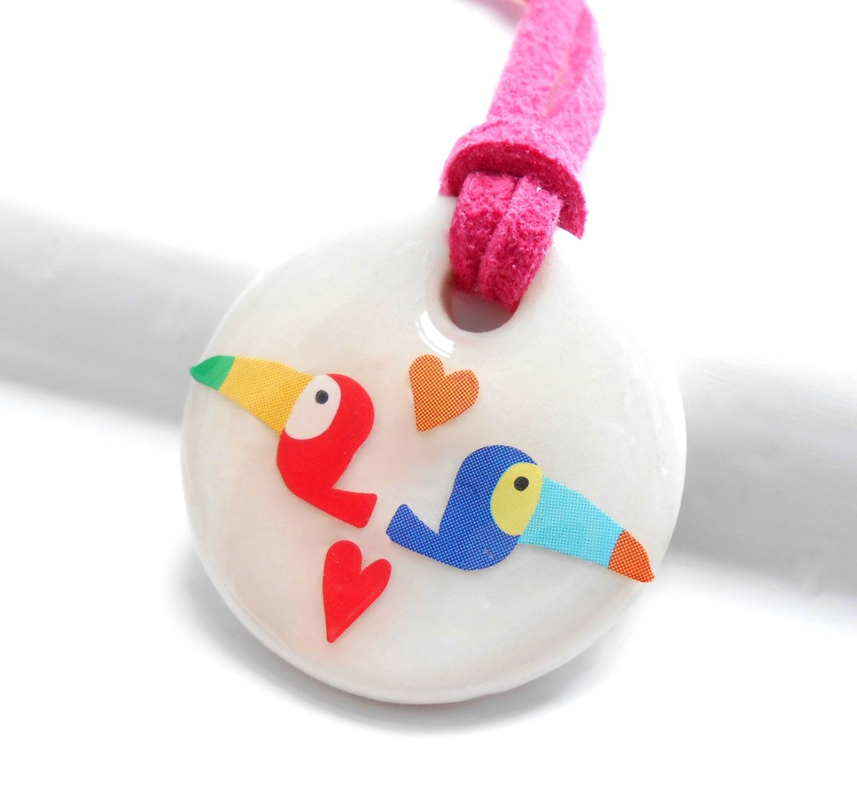 Toucans of a Kind, Porcelain Girls Necklace