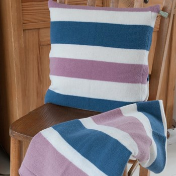 Lambswool Stripy Cushion Covers
