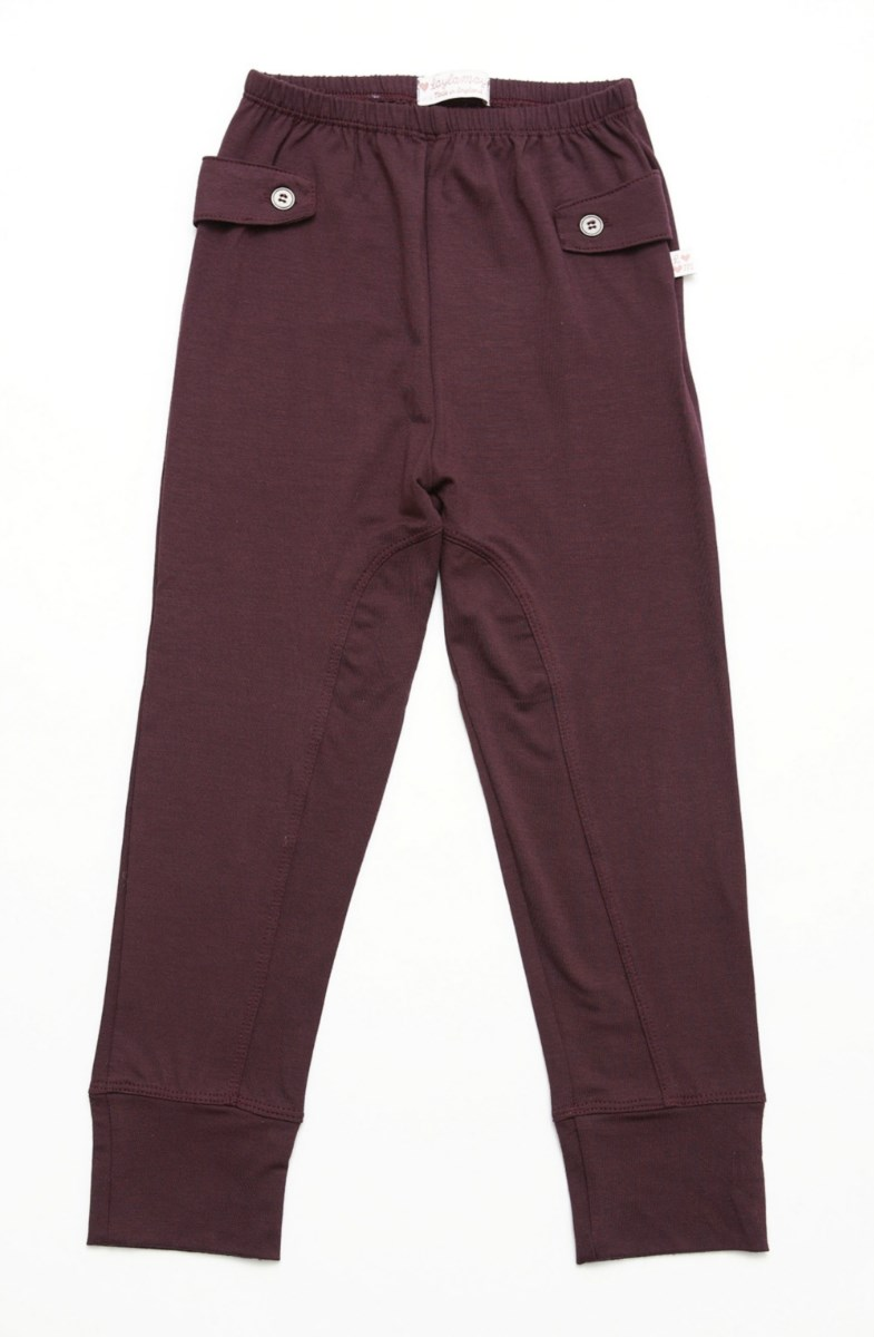 Suzanne Jodhpur Leggings - Wine