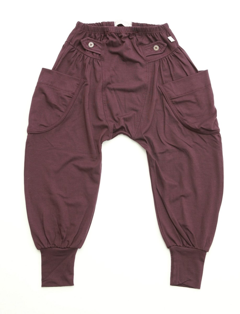Wine Baggy Trousers