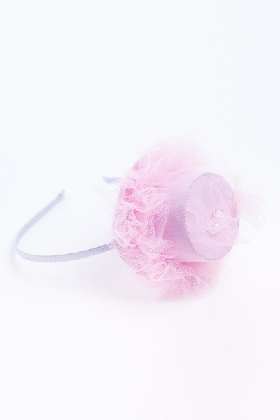 Sweet Pink Hat Headband with Tulle