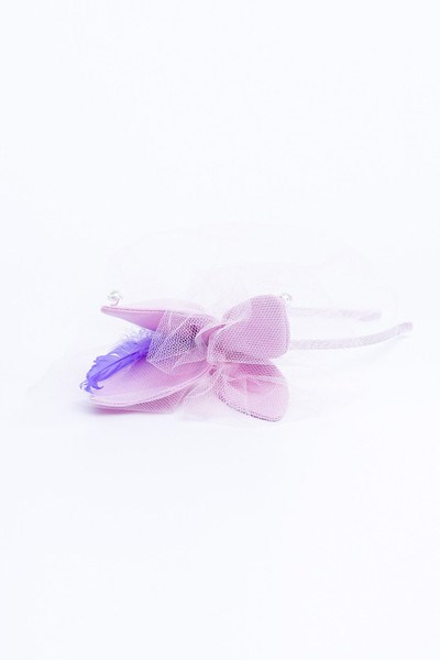 Sweet Pink Butterfly Headband with Tulle