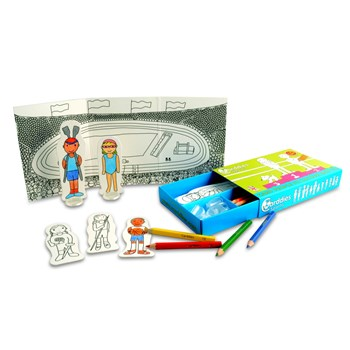 Carddies Sports - Colouring in and Imaginative Play Set for Children