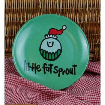 'Little Fat Sprout' melamine plate