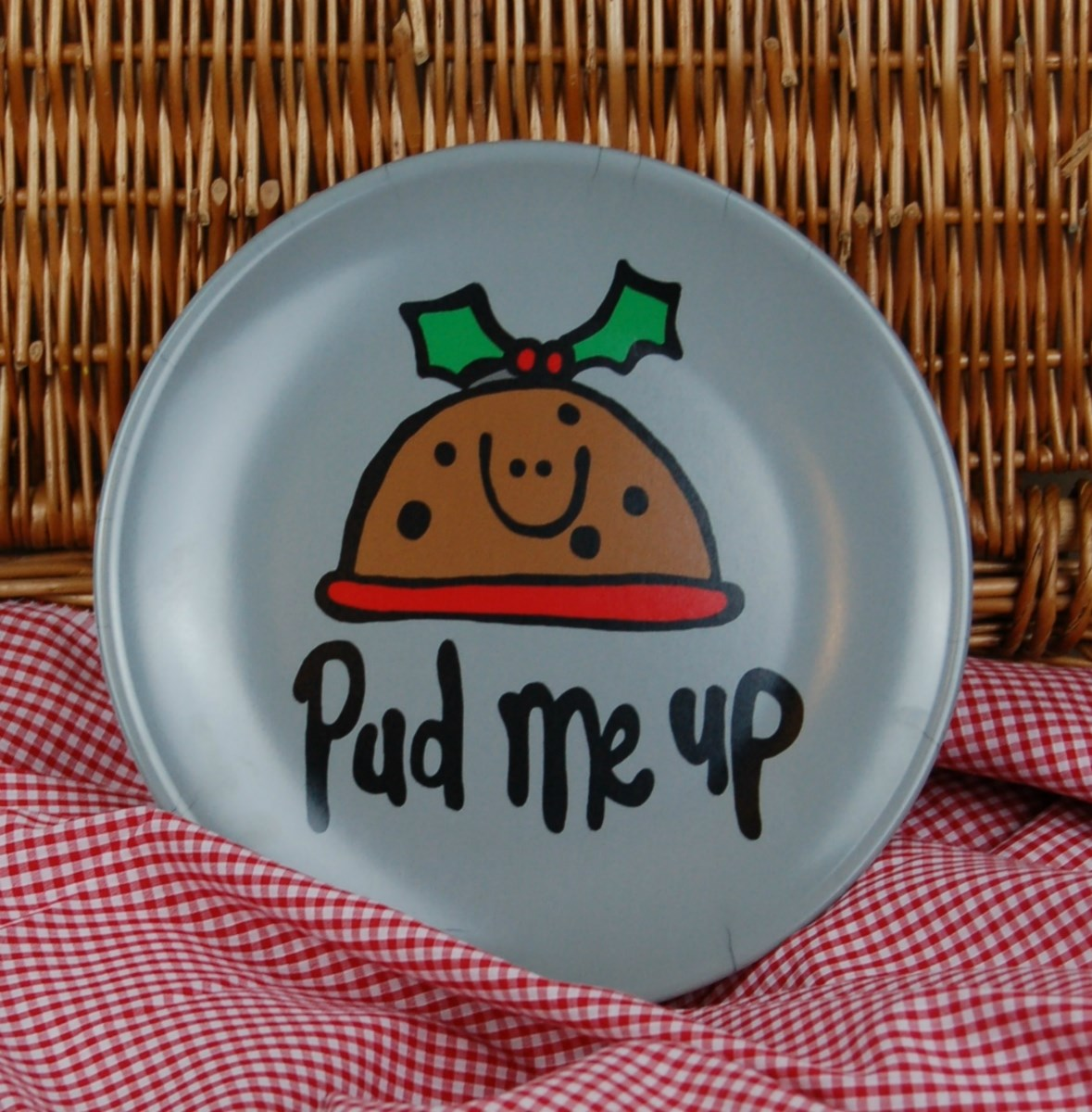 'Pud Me Up' melamine plate