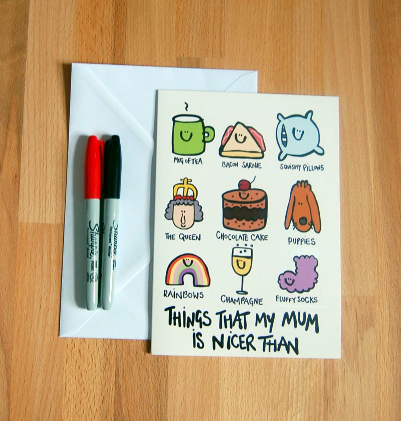 'My mum is nicer than...' Large Mothers Day Card