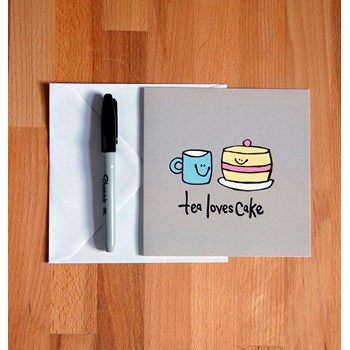 'Tea loves Cake' Greetings Card