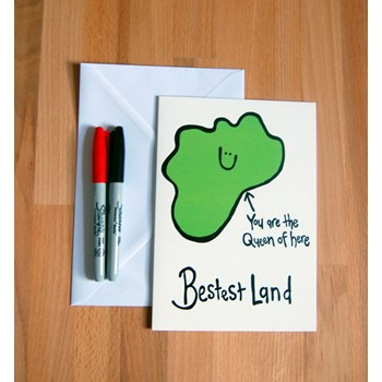 Mothers Day 'Bestest Land' Greetings Card