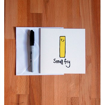 'Small Fry' New Baby Greetings Card