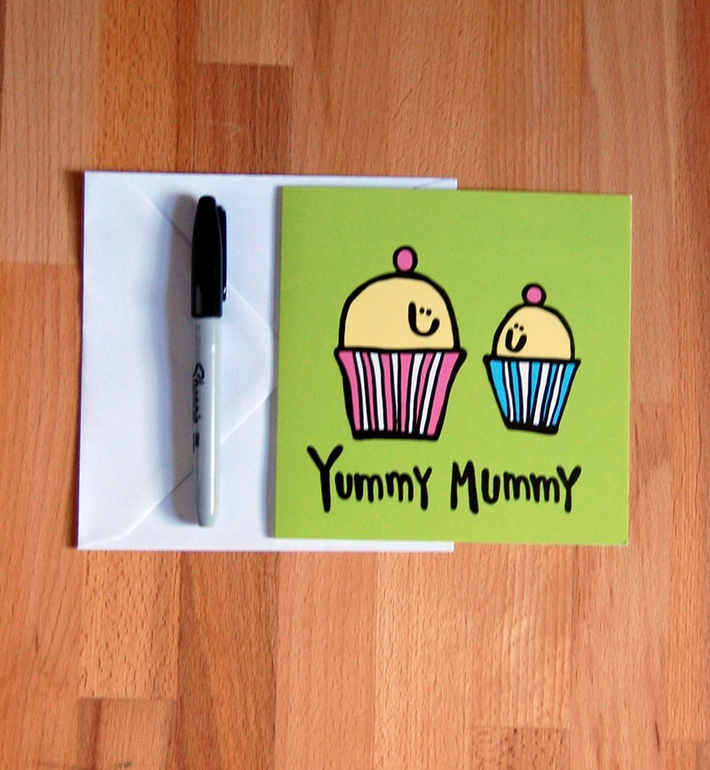Yummy Mummy Baby Shower Congrats Card