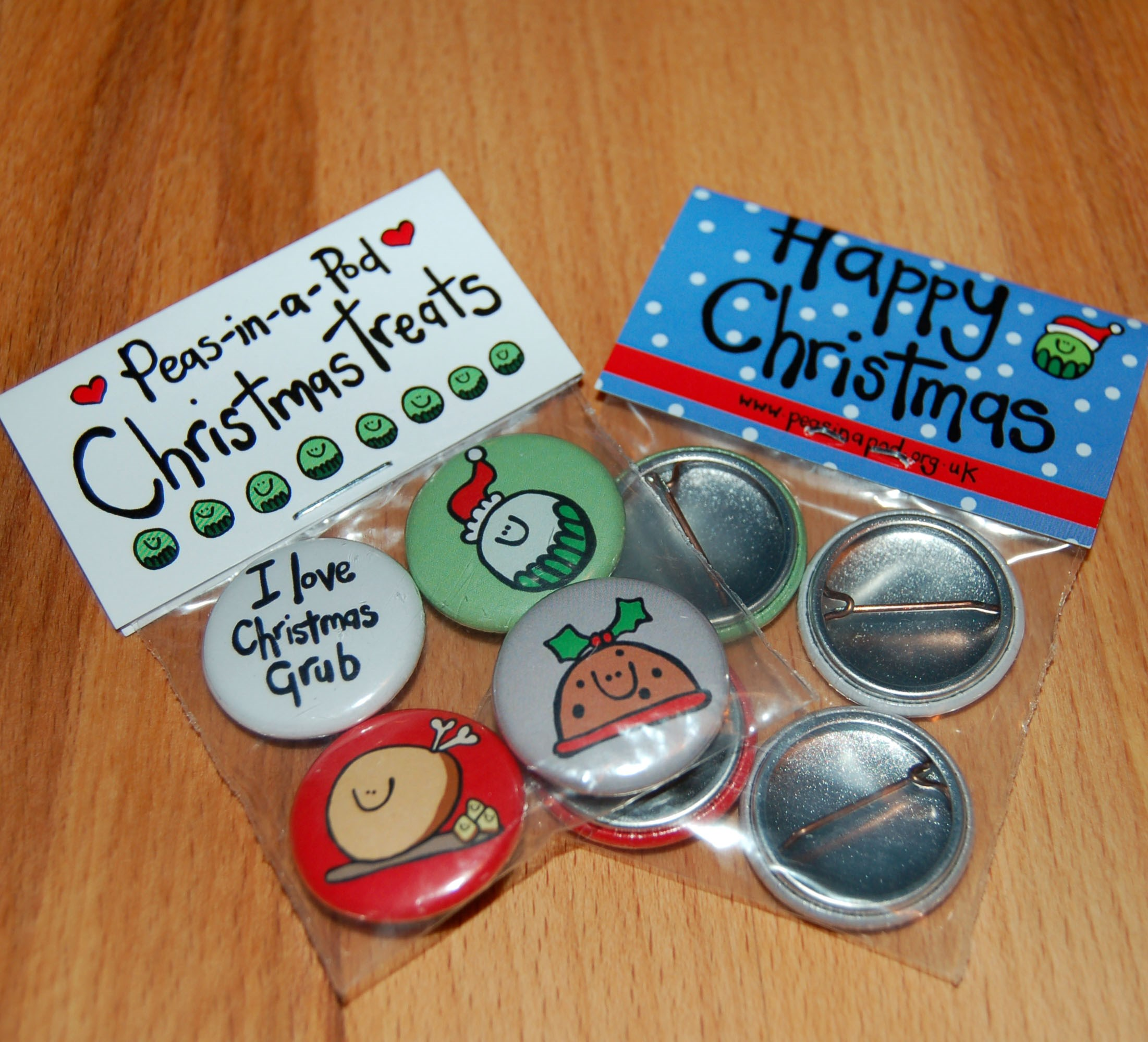 Christmas Grub badge set