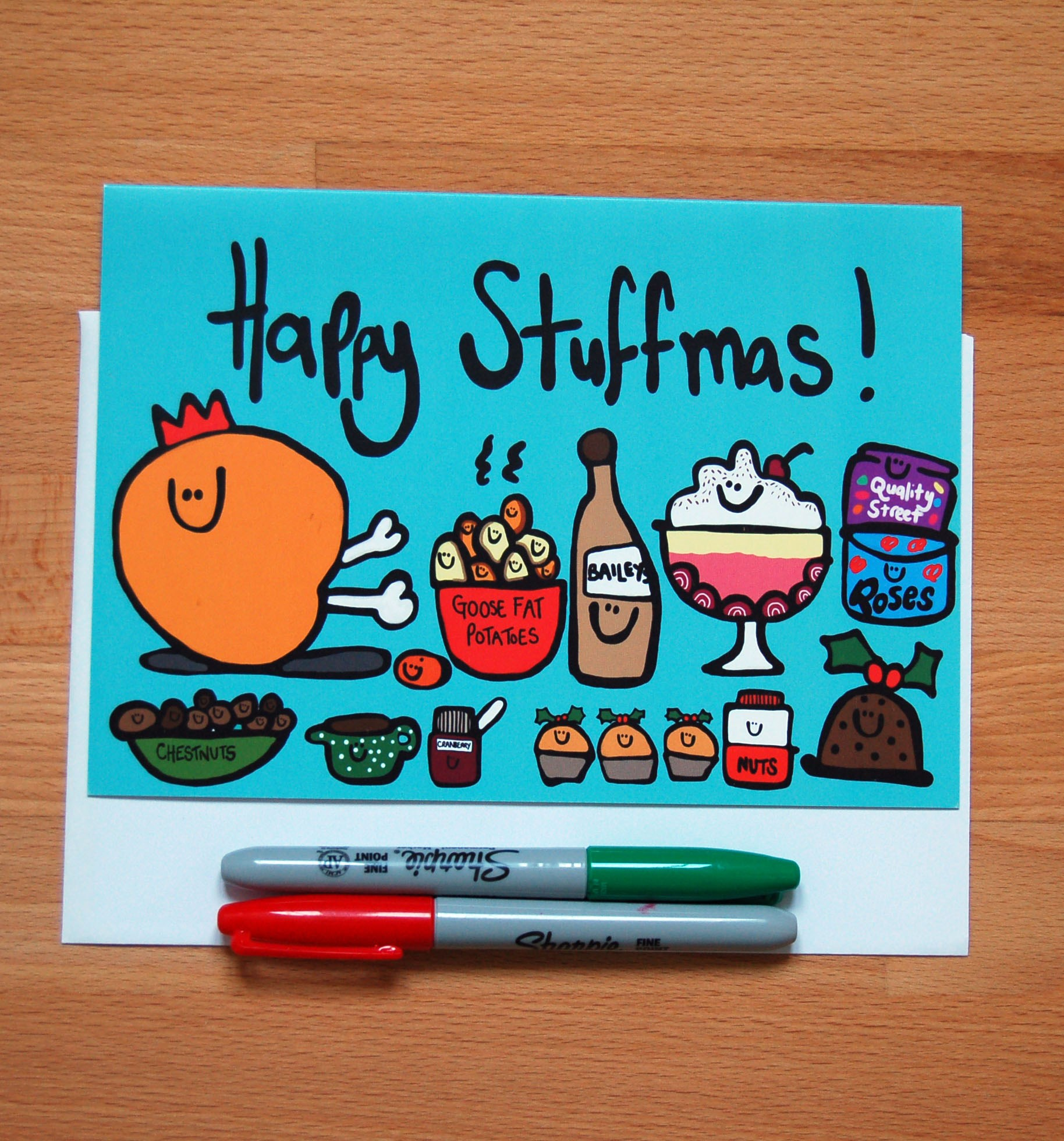 Happy Stuffmas A5 Christmas Card