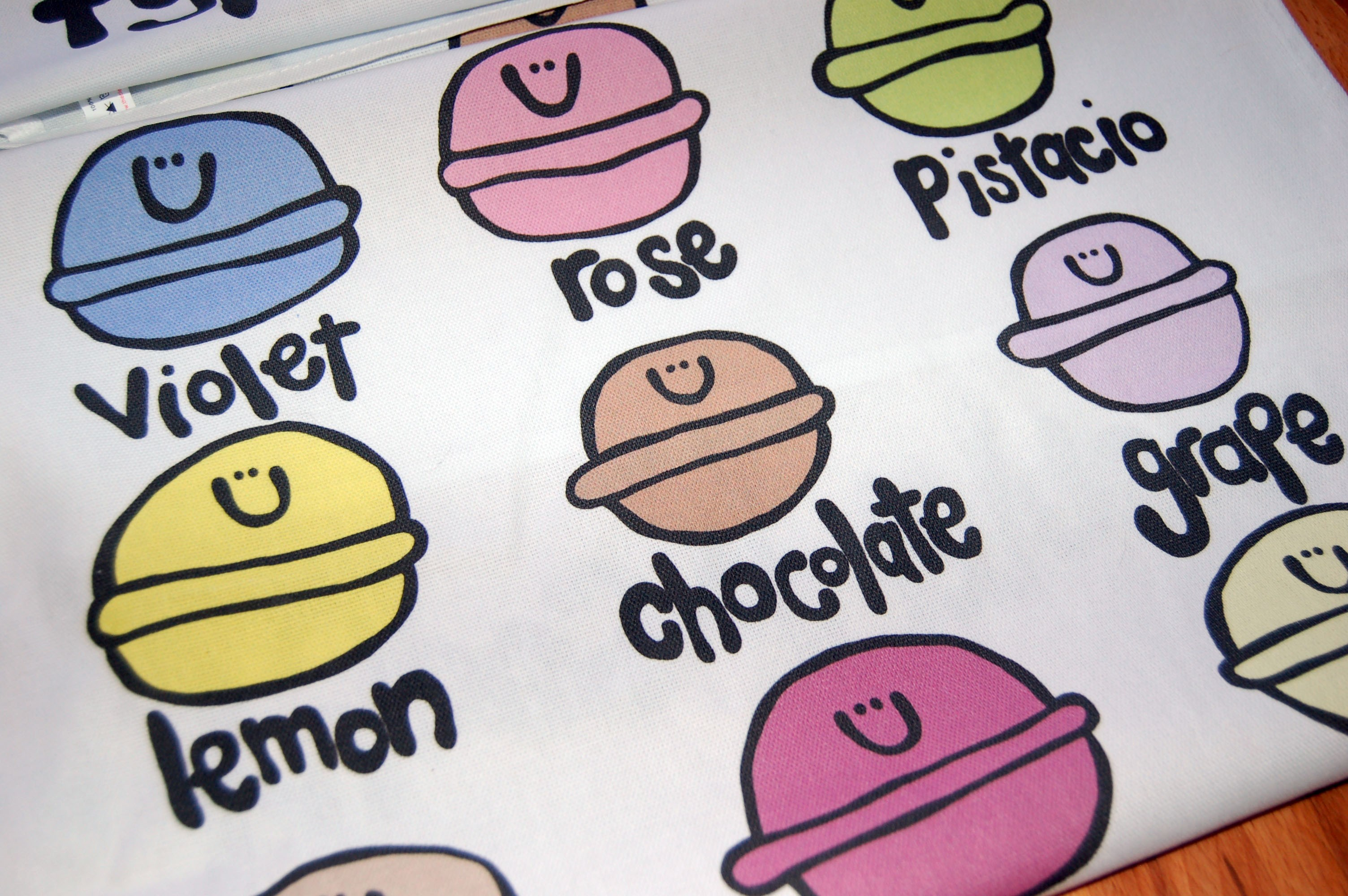 Types of Macaron Cotton Teatowel